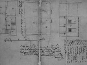 Planos del nuevo Ayuntamiento de la villa de Aoiz, construido en la Calle de la Villa, nª 1, en el Siglo XVIII
