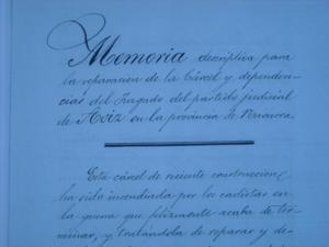 Documento que recoge la memoria descriptiva de las reparaciones a realizaren la cárcel