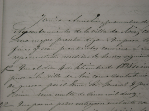 Parte del documento del procurador del Ayuntamiento de Aoiz, D. Javier Amichis