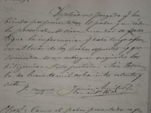 Final del documento y firma del procurador D. Javier Amichis