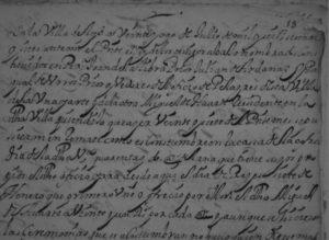 Acta notarial de Martín de Alli escribano de la Villa de Aoiz. Día 28 de Julio de 1667
