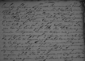 Parte de la escritura donde se relacionan los bienes que avalan el censo de 200 ducados