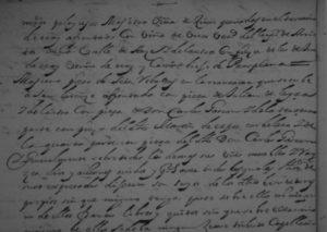 Segunda parte del documento donde se relacionan los bienes de los maestros Pelaires