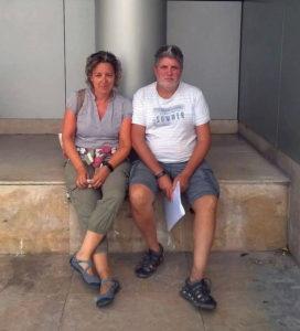 Gabriela López y Daniel Ángel Sáenz, ayer. DN