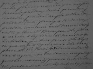 """Parte del documento notarial sobre el acuerdo de instalar una """"sierra de agua"""" en Aoiz"""