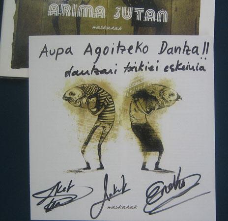 CD bat Arima Sutan taldeak sinatuta